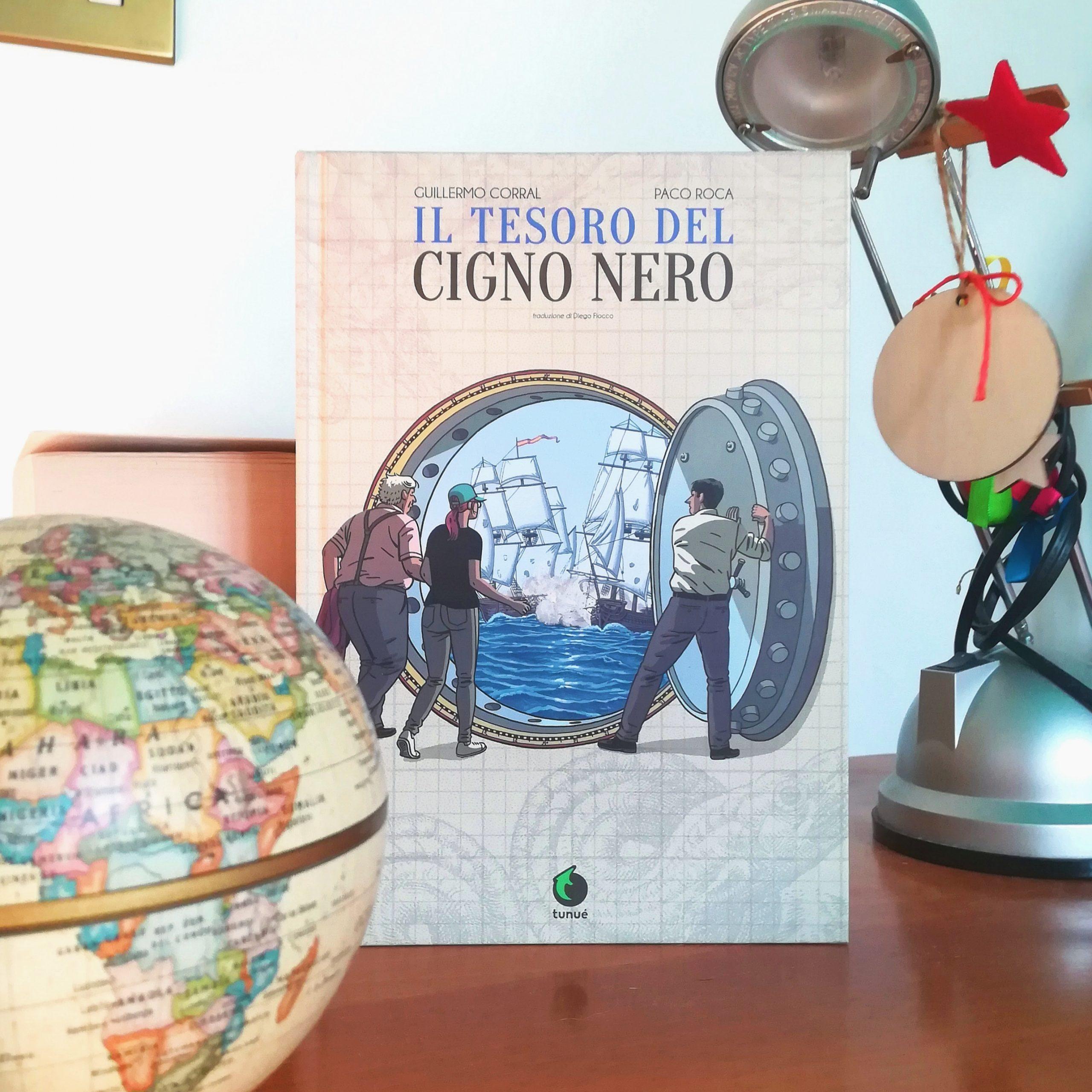 Copertina de Il tesoro del Cigno Nero di Paco Roca e Guillermo Corral, edito Tunué